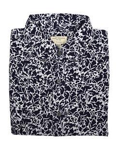 c339ca4ff1f Club Monaco Mens Blue Floral Short Sleeve Button Down Shirt Sz ...
