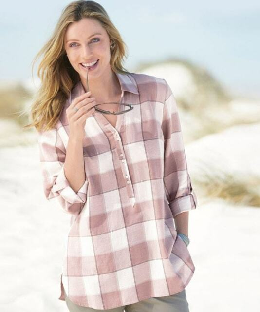 bcb5e111dd522 Damart Check Shirt Nude Size UK 18 Dh084 OO 03 for sale online