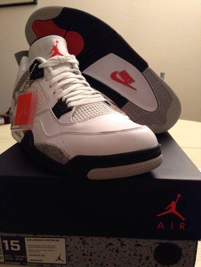 Nike Air Jordan Retro cemento 4 IV og '89 cemento Retro blanco 840606 192 comodo precio de temporada corta, beneficios de descuentos 576f9b