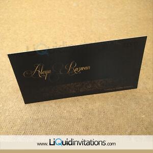 Details About Asian Indian Sikh Muslim Custom Wedding Invitation Card Sample