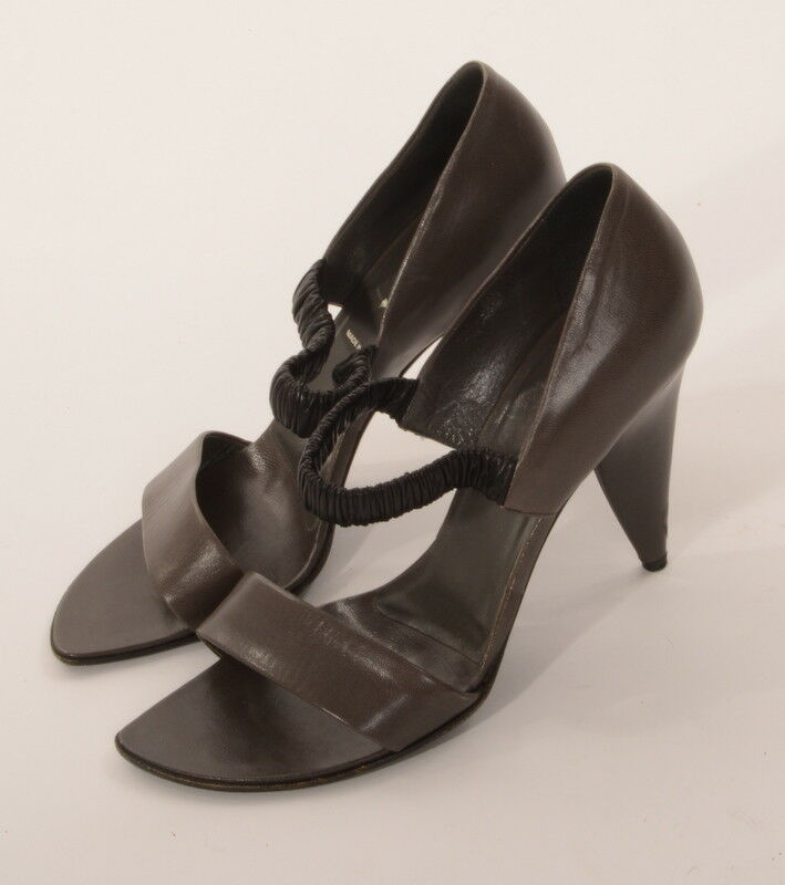 Prada Chaussures sandales cuir noir gris anthracite T T T 41 5b09a2