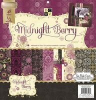 Dcwv the Midnight Berry Stack Limited Edition 12x12 Scrapbook Paper Pad
