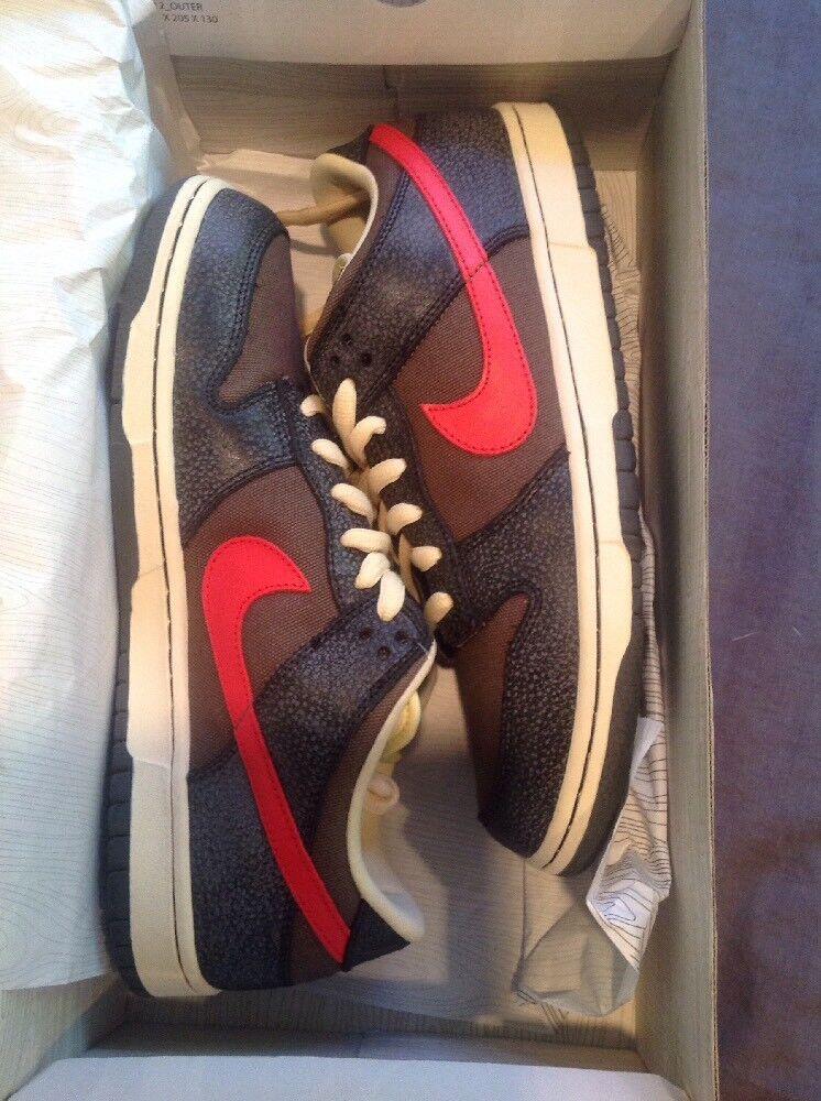 NEW NIKE DUNK Low Premium Sb Shoes Sneakers Black/atom Red Sz 11