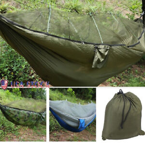 2-Person-Jungle-Hammock-Tent-w-Mosquito-Net-Camping-Survival-Travel-Hanging-Bed
