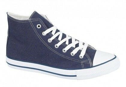 Unisex Academy Navy Hi-top Rubber Front Ankle Summer Canvas Boots