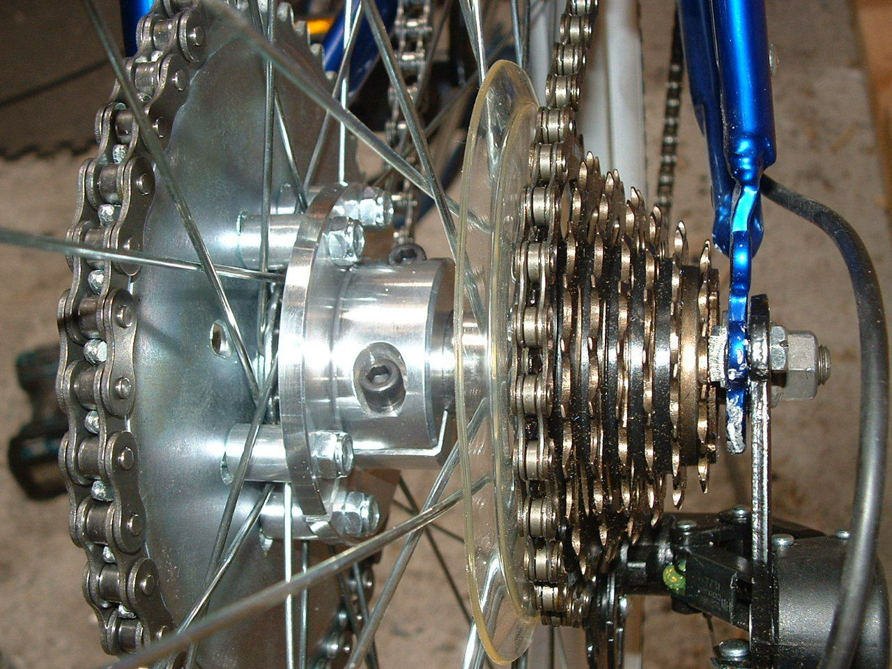 80cc ENGINE KIT REAR WHEEL  HUB ADAPTER FOR THE FREEWHEEL BIKES 1'' INCH BORE.     hastened to see