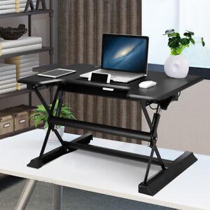 Bureau d 39 ordinateur assis debout r glable en hauteur avec - Recherche ordinateur de bureau ...