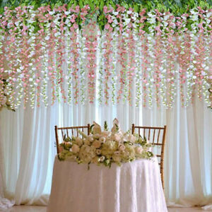 Beautiful-Artificial-Flower-Vine-Orchid-Handmade-Hanging-Wreath-Wedding-De-EP