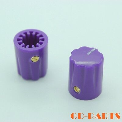 10PCS 13*16mm PURPLE Guitar amp effect pedals Mixer Pointer knobs with set screw