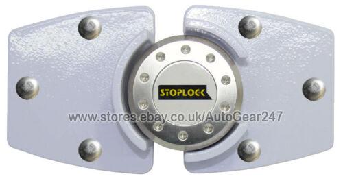 White Stoplock Van High Security Anti Theft  Side or Back Door Lock Hasp Padlock