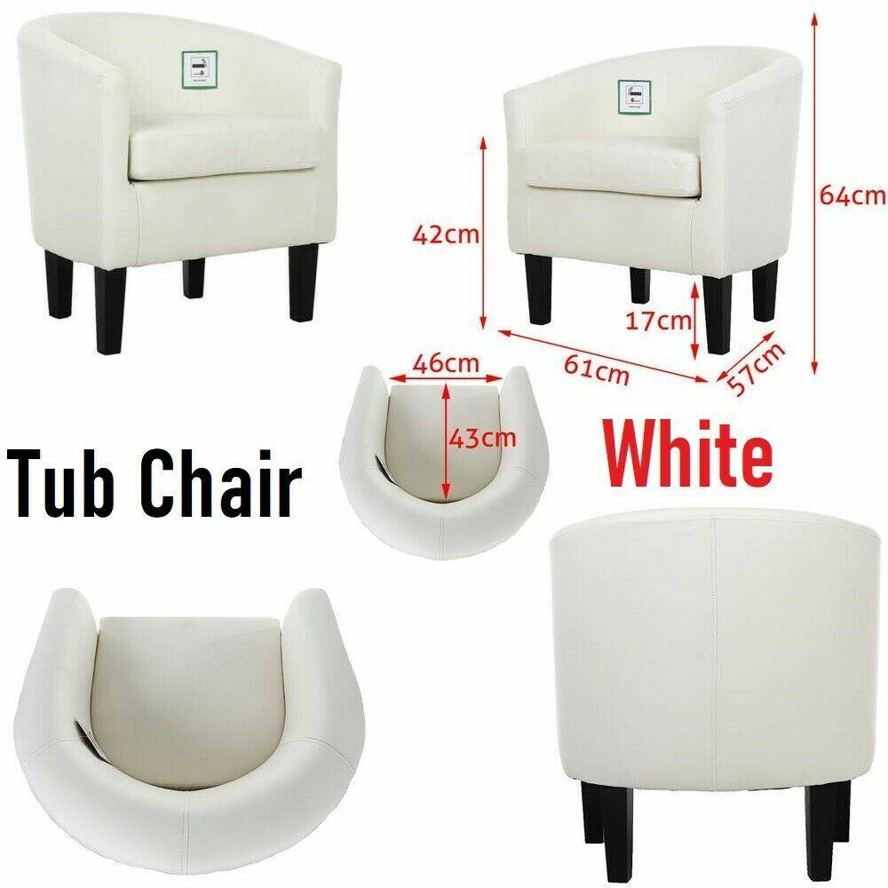 Nuevo De imitación de cuero de la PU Bañera Silla Sillon Comedor Moderno Sofá De Muebles De Oficina