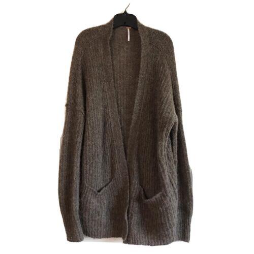 Free People Alpaca Cardigan Sweater Sz Medium Over