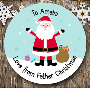 Personalizado 24 Pegatinas de Navidad | Etiquetas De Regalo | etiquetas presentes | Santa Claus  </span>