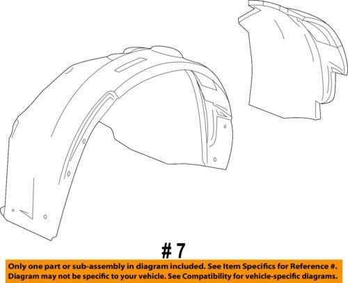 Cadillac GM OEM SRX-Front Fender Liner Inner Splash Shield Guard Left 22868772