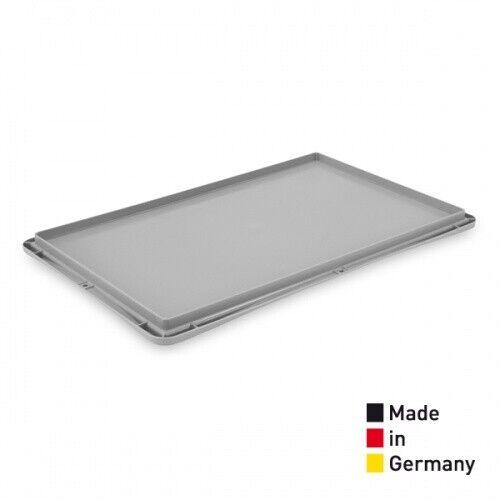60 x 40 cm grau Deckel für Eurobox Stapelkiste Eurobehälter KED 6400.G