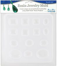 Resin Mold Assorted Jewels 8 Count Heart Arrow Oval Rectangle Reusable Plastic
