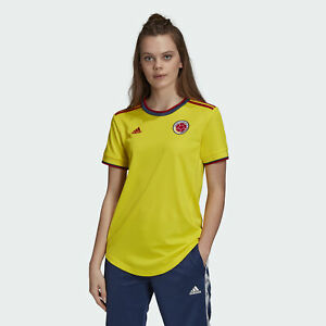 Adidas 2021-22 Colombia Woman Home Jersey - Yellow | eBay