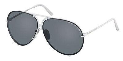 RARE NEW Authentic PORSCHE DESIGN White Black Aviator Sunglasses P 8478 P 69MM