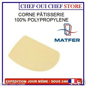 corne de p tissier raclette p tisserie en polypropyl ne matfer bourgeat neuf ebay. Black Bedroom Furniture Sets. Home Design Ideas