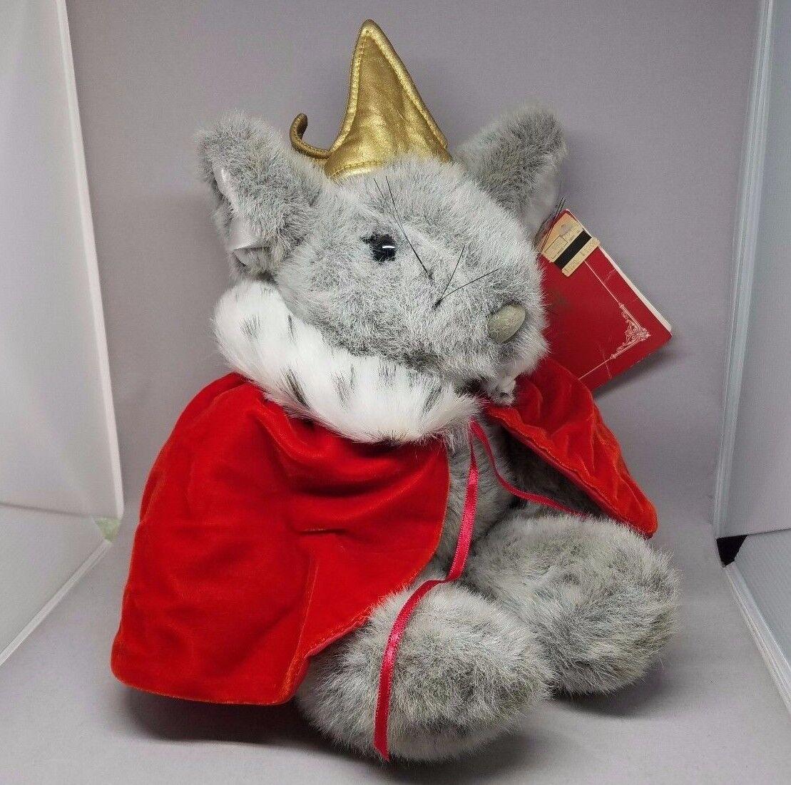 Macys Krismouse Plush Mouse Francesca Friends ROT Cape Christmas 90s Stuffed MWT