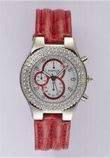 Uhr , Damenuhr, MADISON New York , Chrono-Optik , rot