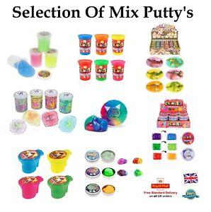 Sélection de Mix Putty Tubs Couleur Glow Glitter Slime Bouncy Egg Tub Cadeau Cadeau Uk