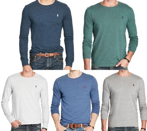 NWT POLO RALPH LAUREN Men Custom Fit Long Sleeve Tee T-Shirt  L XL XXL