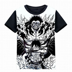 40736de2be98 Anime One Piece Luffy Gear fourth Unisex T-shirt Cosplay Tee Short ...