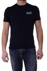 Blu Armani Sweatshirt Shirt Cotone T Maglietta Ea7 Emporio Uomo DIEWH92Y