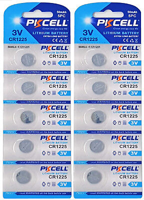 1 x CR1225 3V Lithium Knopfzelle 50 mAh lose Markenware EASTCELL