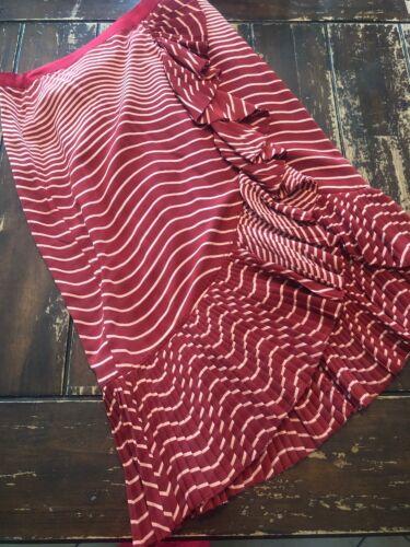 Tory Burch Pleated Silk Skirt 6 Wine Burgandy Pink
