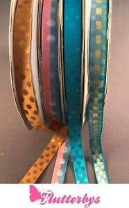5-metres-Satin-feel-10mm-wide-ribbon-various-styles