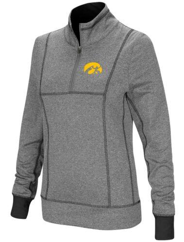 """Iowa Hawkeyes Women/'s NCAA /""""10K Runner/"""" 1//4 Zip Pullover Shirt"""