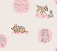 Fat Quarter Disney Bambi And Thumper Together 100% Cotton Quilting Fabric - Pink