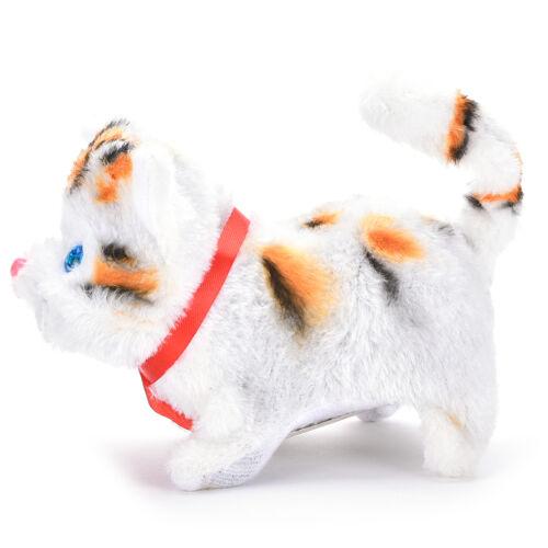 1 Pcs Electric Cat Sound Walking Cute Plush Children Kids Educational Toy vbuk