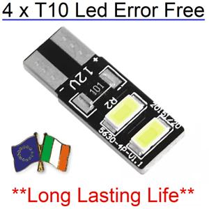 4x-T10-w5w-Canbus-Error-Free-Led-White-Bulb-HID-6000K-501-194-Parking-side-Light