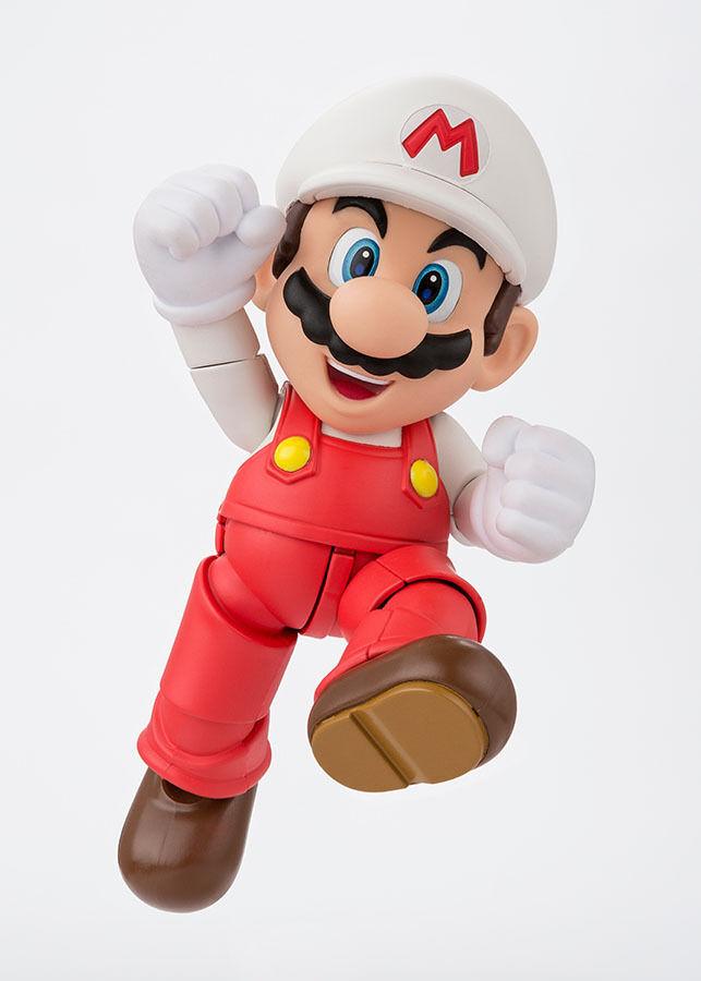 Super Mario Bros. S.H. Figuarts Action Figure Fire Mario Tamashii Web Exclusive