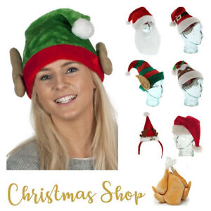 c071a322cac Image is loading ADULT-THEMED-Christmas-Santa-Hats-Stocking-Fillers-Beard-