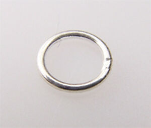 #721 sterling silver closed jump ring of 5mm-32mm