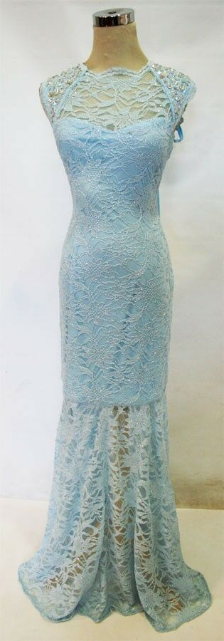 NWT MORGAN & CO  200 bluee Formal Evening Prom Gown 11