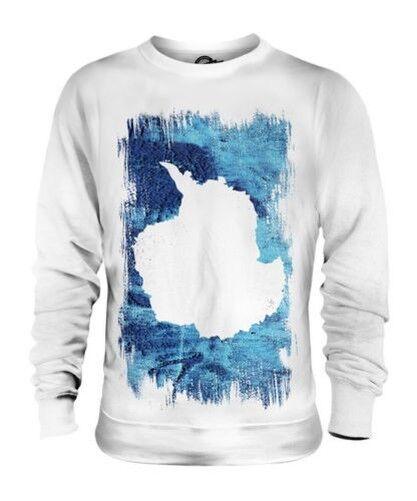 Antartica Grunge Flag Unisex Pullover Top Fußball Geschenk Kleidung Jersey
