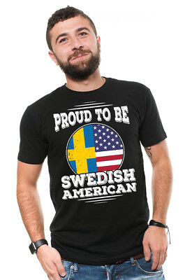 Proud To Be Swedish American Sweden Swedish Heritage T shirt Sweden T shirts