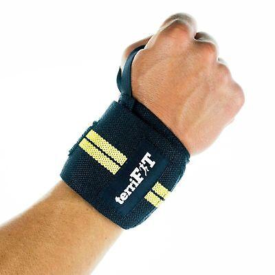 "18/"" terriFIT CrossFit Universal Weightlifting Wrist Wraps With Thumb Loop"