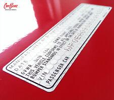 VIN DOOR JAMB DECAL, 911 (1981 – 1985) porsche sticker technical
