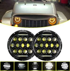 Round-7-034-LED-Halo-Headlights-High-Low-Beam-DRL-For-Datsun-240Z-260Z-280Z-280ZX