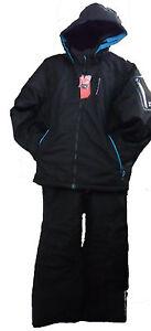 4a2c660653 Five Seasons Mens Mitch Ski Snow Suit - Black - Jacket and Salopettes