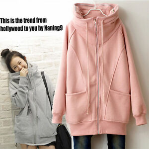 J59 Korean Women Zipper Hoodie Sweater Jacket Coat Outwear ~Light
