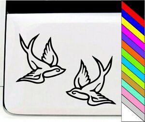 Two-Birds-Flying-Cartoon-Character-Car-Wall-Window-Vinyl-Decal-Sticker-Car-Door