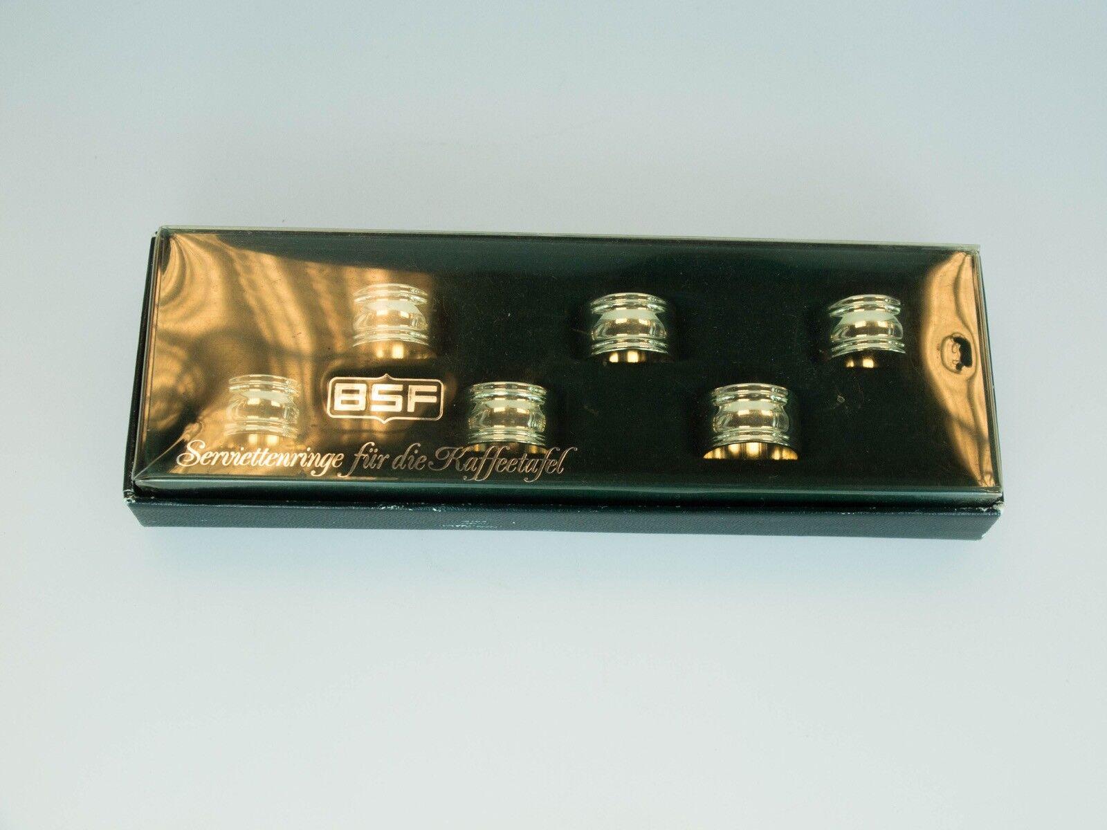 BSF Serviettenringe für die Kaffe Kaffe Kaffe Tafel Wie neu Bestzustand Serviettenringe TOP | Vorzüglich  abf1be