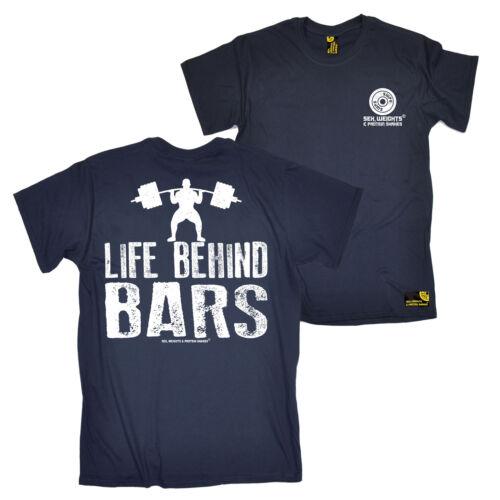 Life Behind Bars FB Gym Bodybuilding Tee Novelty Birthday Mens T-Shirt